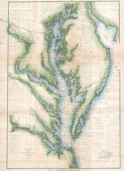 File:1873 U.S. Coast Survey Chart or Map of the Chesapeake Bay and Delaware Bay - Geographicus - ChesapeakeBay-uscs-1873.jpg