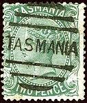 1878ca 2d green Tasmania oval Yv36 Mi31 SG157a.jpg