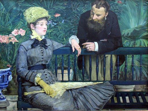 1879 Manet Im Wintergarten anagoria