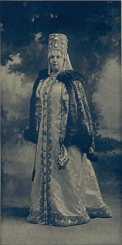 Alexandra no famoso baile imperial de 1903