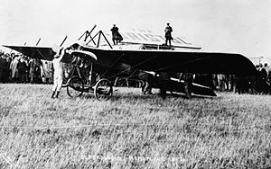 1912 British Military Aeroplane Competition - Deperdussin monoplane (entrant no.21) at the Trials, pilot Jules Védrines