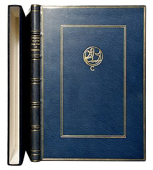 Morocco leather - Deluxe edition of Thomas Mann's novel Der Tod in Venedig in full Morocco binding, showing its typical vein.