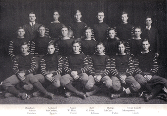 Bennie Owen - Owen's undefeated team of 1915.