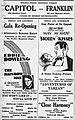 1929 - Capitol - Franklin Theater Ad - 24 Jul MC - Allentown PA.jpg