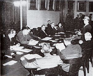 United States Assay Commission - Mint Director Nellie Tayloe Ross addresses the 1952 assay commissioners