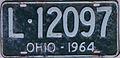 1964 Ohio license plate.JPG