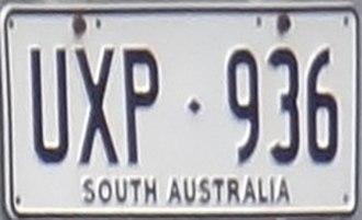 Vehicle registration plates of South Australia - South Australia (pre 1981)