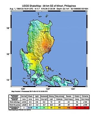 1968 Casiguran earthquake - Image: 1968 Casiguran earthquake
