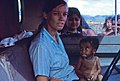 1969 Riona nhân viên Hội Chữ thập đỏ New Zealand & Nhóm người Thượng đang trên đường lên An Khê. (9680612090).jpg