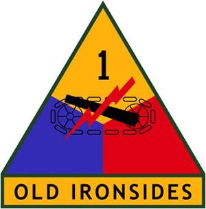 24th Press Camp Headquarters - 1st Armored Division insignia