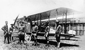 1st Reconnaissance Squadron - The first of the new 1st Aero Squadron Curtiss JN–2s at the Signal Corps Aviation School, North Island California