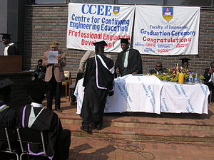 University of Zimbabwe - Faculty of Engineering graduation ceremony, University of Zimbabwe, August 2005.