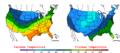 2006-11-11 Color Max-min Temperature Map NOAA.png