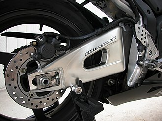 Honda CBR600RR - Image: 2006Honda CBR600RR swingarm