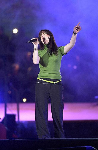 Vanessa Amorosi - Amorosi shown singing at the Opening Ceremony of the 2000 Summer Paralympics in Sydney, Australia