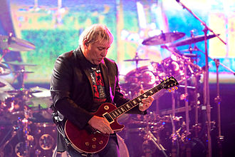 Alex Lifeson - Alex Lifeson during the 2010–2011 Time Machine Tour, Ahoy, Rotterdam, the Netherlands (27 May 2011)