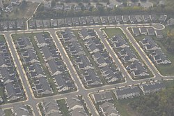 Aerial view of a development in Ashburn
