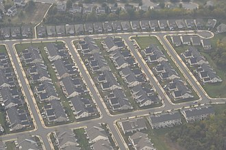Ashburn, Virginia - Aerial view of a development in Ashburn