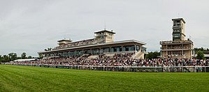 Chantilly Racecourse - The grandstand during the Prix de Diane in 2013