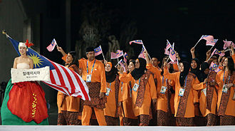 2014 Asian Games Parade of Nations - Malaysia athletes entering the stadium
