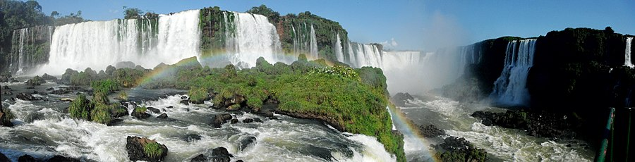The Iguazu Falls, in the Misiones Province it is one of the New7Wonders of Nature.[172]