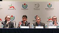 2015 Wikimania press conference - JS - 6.jpg