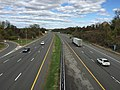2017-10-30 13 48 49 View north along Interstate 95 from the overpass for Bear Tavern Road (Mercer County Route 579) in Ewing Township, Mercer County, New Jersey.jpg