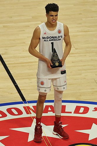 2017 McDonald's All-American Boys Game - Michael Porter Jr. earned the Most Valuable Player award