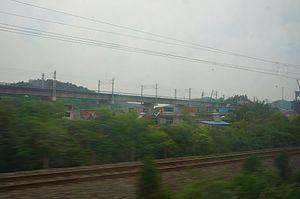 Wuhan–Jiujiang passenger railway - Image: 201705 Wuhan–Jiujiang HS Railway under consturction