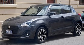 2018 Suzuki Swift (AZ) GLX Turbo 5-door hatchback (2018-02-20) 01.jpg