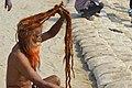 2019 Jan 16 - Kumbh Mela - Portrait of a Sadhu Drying His Hair.jpg