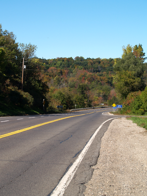 Ontario Highway 24 - Highway 24 descends into the Grand River valley south of Cambridge