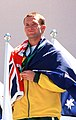301000 - Athletics track 4 x 100m T46 relay Heath Francis gold medal - 3b - 2000 Sydney medal photo.jpg