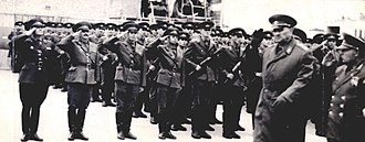 Baku Higher Combined Arms Command School - During a visit by Minister of Defense of the USSR Andrei Grechko in 1970.