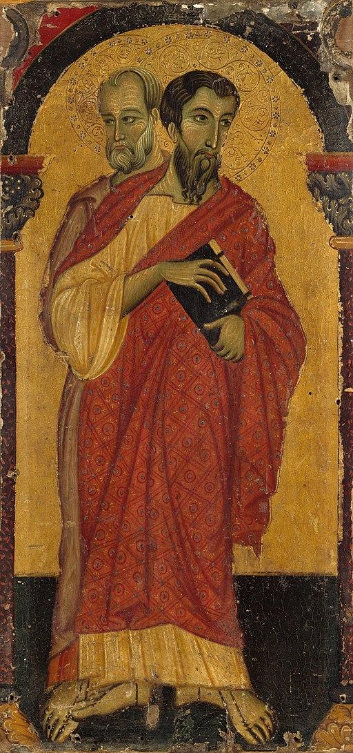 Master of Saint Francis. Double-sided Polyptych. Saints Bartholomew and Simon 1265-75, Metropolitan Museum. New York