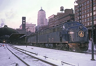Grand Central Station (Chicago) - The Baltimore and Ohio Railroad's Capitol Limited at Grand Central Station in 1967.