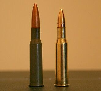 7.62×53mmR - Image: 7,62x 53R cartridge