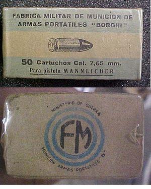 7.65×21mm Mannlicher - Image: 7.65×21mm Mannlicher
