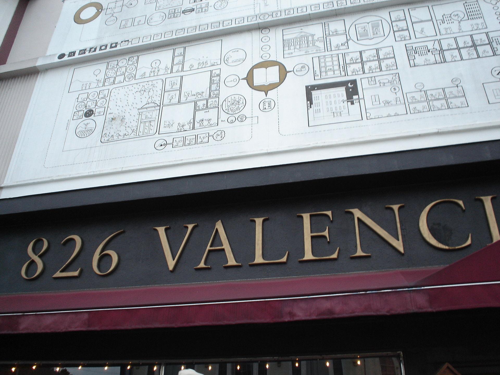 826 valencia wikipedia On 826 valencia mural