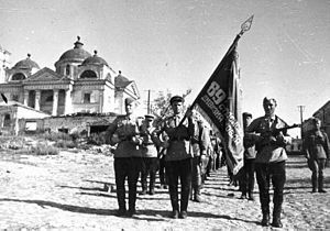 89th Guards Rifle Division troops in Belgorod 5 August 1943.jpg