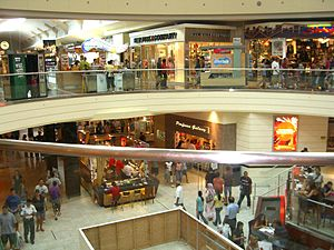 Westfield Garden State Plaza - Garden State Plaza on Labor Day 2007, taken from second level above mall's food court.