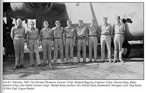 19th Air Division - 98th Bombardment Group B-24D Liberator crew at RAF Ramat David, British Palestine, 1942