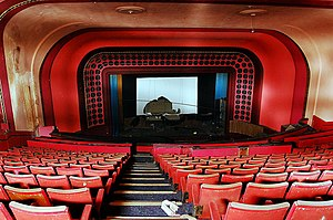 ABC Cinema, Wakefield - View from the circle to the screen and stage (Screen 1 since 1976)