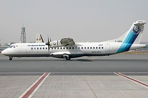 Iran Aseman Airlines - Iran Aseman ATR 72-500 at Dubai International Airport