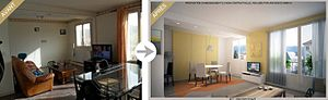 Français : Exemple de Home staging virtuel