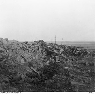 Battle of Elands River (1900) - Sangars thrown up by the defenders, shown a year after the battle