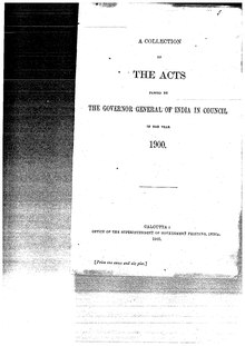A Collection of the Acts passed by the Governor General of India in Council, 1900.pdf