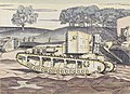 A Whippet Tank - the Experimental Ground, Dollis Hill, London, N.w. Art.IWMART2487.jpg