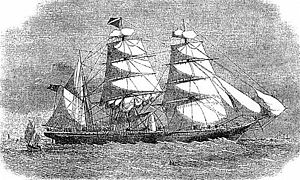 Great Tea Race of 1866 - Auxiliary steamer Erl King