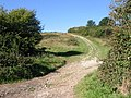 "A bridleway climbs steeply out of ""No Man's Land"" - geograph.org.uk - 61137.jpg"